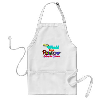 The world is a rainbow, enjoy the colours standard apron