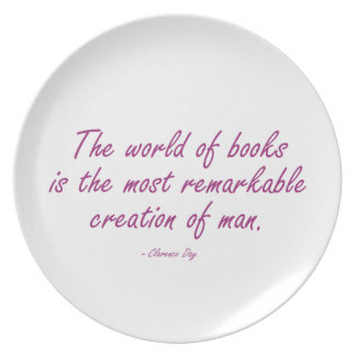 The World of Books Is The Most Remarkable Creation Dinner Plates