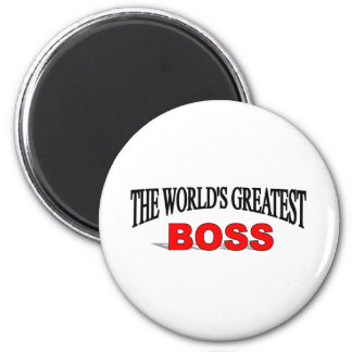 The World's Greatest Boss 6 Cm Round Magnet