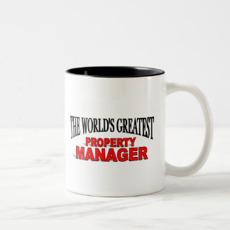 The World's Greatest Property Manager Two-Tone Coffee Mug