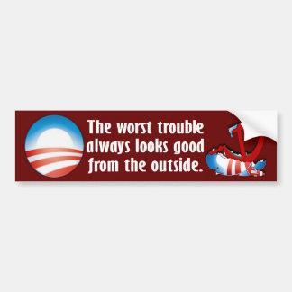 The Worst Trouble Bumper Sticker