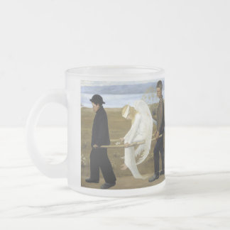 The Wounded Angel Frosted Glass Mug