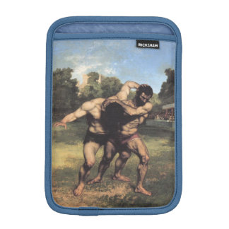 The Wrestlers by Gustave Courbet iPad Mini Sleeve