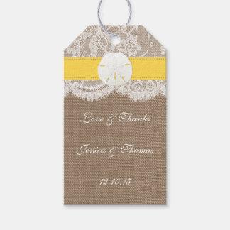 The Yellow Sand Dollar Beach Wedding Collection