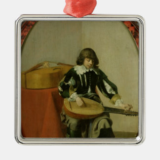 The Young Musician Silver-Colored Square Decoration