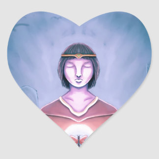 The Young Wizard Heart Sticker