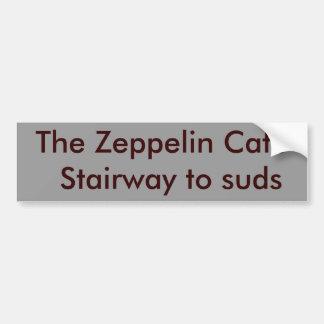 The Zeppelin Cafe  Stairway to suds Bumper Sticker