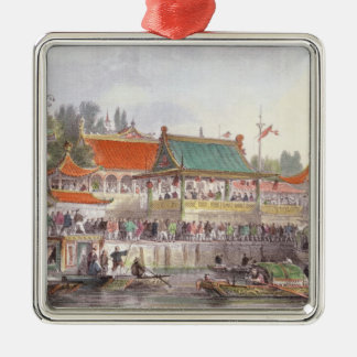Theatre at Tien-Sing, from 'China in a Series of V Christmas Ornament