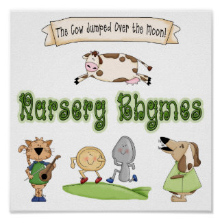Theme Nursery Rhymes Animals Art Print Poster