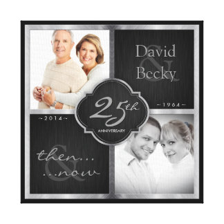 Then and Now 25th Wedding Anniversary Canvas Print