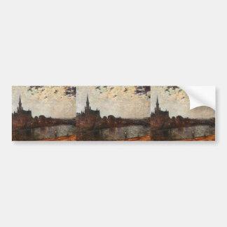 Theo Rysselberghe- Holy Cross Church at Ixelles Bumper Sticker