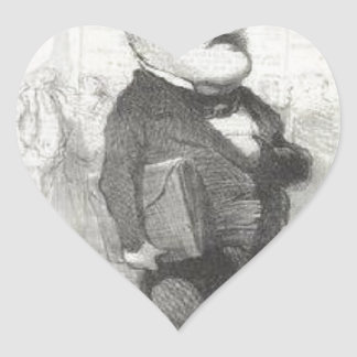 Theobald Lacrosse by Honore Daumier Heart Sticker