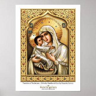 Theotokos of Tenderness - Poster