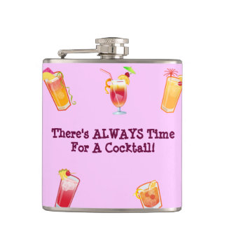 There's Always Time For A Cocktail Hip Flask