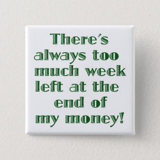 There's Always Too Much Week Left... 15 Cm Square Badge