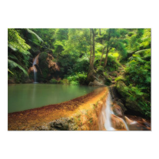 Thermal pool in the forest 13 cm x 18 cm invitation card