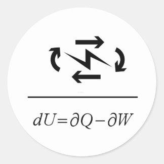 Thermodynamics First Law Classic Round Sticker