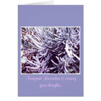 These Quiet Seasons February Lavendar Card