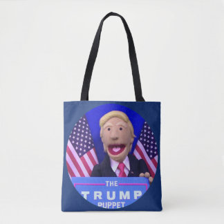 TheTrumpPuppet Style Tote (Dark Blue)