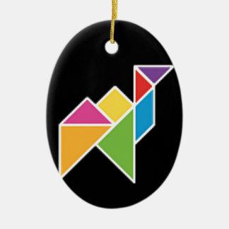 they tangram camel camel christmas ornament