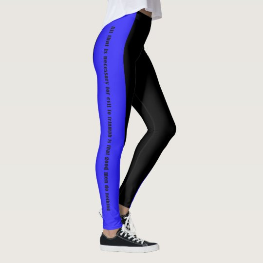 Thin Blue Line - A Few Good Men and Women Leggings