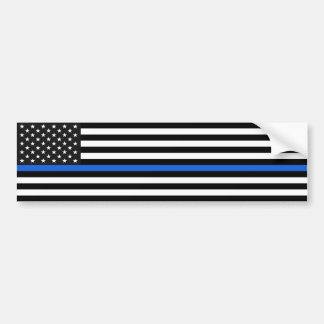 Thin Blue Line American Flag Bumper Sticker