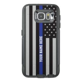 Thin Blue Line - American Flag Personalised Custom OtterBox Samsung Galaxy S6 Case