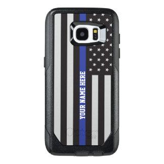 Thin Blue Line - American Flag Personalized Custom