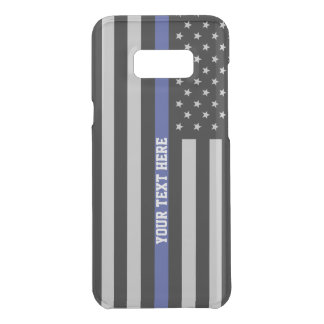 Thin Blue Line - American Flag Personalized Custom Uncommon Samsung Galaxy S8 Plus Case