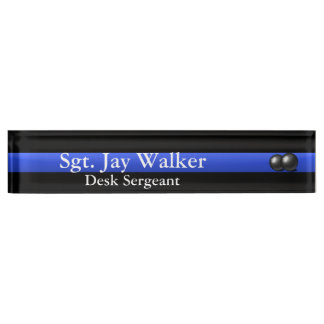 Thin Blue Line - Balls of Steel Name Plate