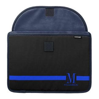 Thin Blue Line Custom Monogram Sleeves For MacBook Pro