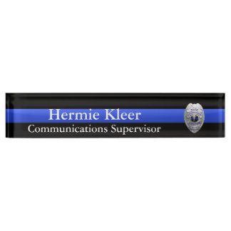 Thin Blue Line - Dispatcher Radio 911 Commo Plaque Nameplate