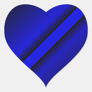 Thin Blue Line Heart Sticker