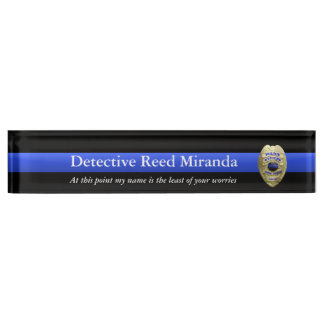 Thin Blue Line - Miranda Name Plate