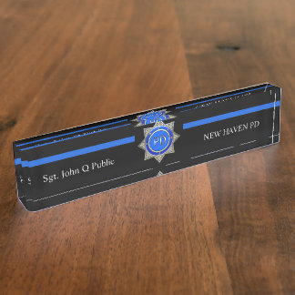 Thin Blue Line Nameplate
