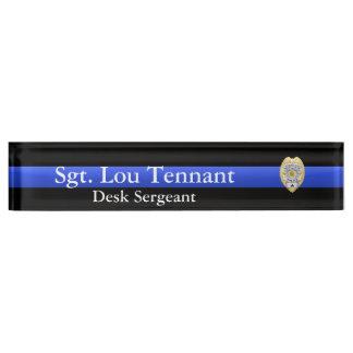 Thin Blue Line - Sergeant Badge Rank Nameplate