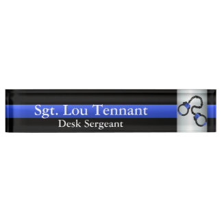 Thin Blue Line - Shackled to the Brotherhood Name Plate