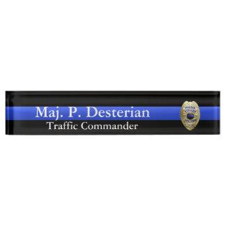 Thin Blue Line - Super Hi Res Police Command Badge Nameplate