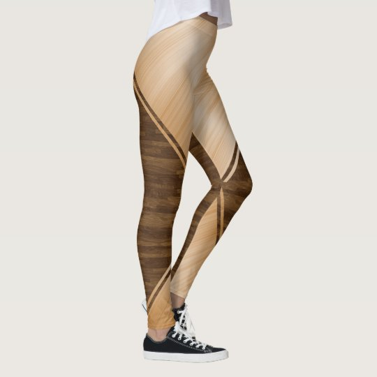 Thin Blue Line - Wood Inlay Leggings