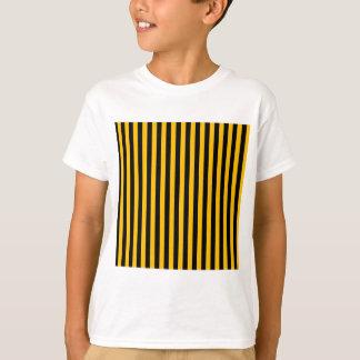 Thin Stripes - Black and Amber T-Shirt
