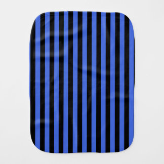 Thin Stripes - Black and Royal Blue Baby Burp Cloth