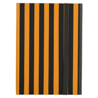 Thin Stripes - Black and Tangerine Cover For iPad Air