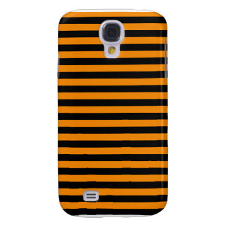 Thin Stripes - Black and Tangerine Galaxy S4 Case