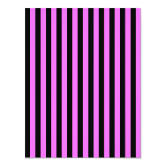 Thin Stripes - Black and Ultra Pink Card