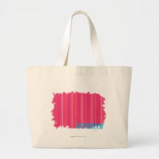 Thin Stripes Magenta 2 Large Tote Bag