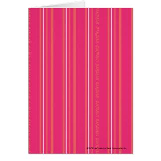 Thin Stripes Magenta Card