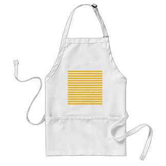 Thin Stripes - White and Amber Standard Apron