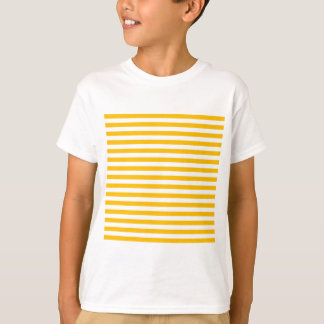 Thin Stripes - White and Amber T-Shirt