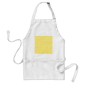 Thin Stripes - White and Golden Yellow Standard Apron