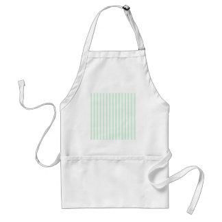 Thin Stripes - White and Pastel Green Standard Apron